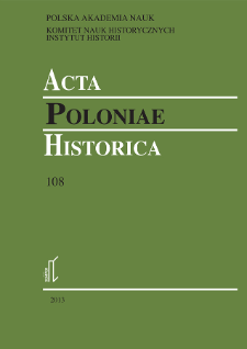 Acta Poloniae Historica. T. 108 (2013), Short notes