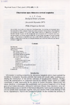 Observations upon rhinoceros cervical lymphatics