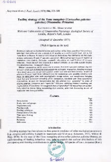 Feeding strategy of the Tana mangabey (Cercocebus galeritus galeritus) (Mammalia: Primates)