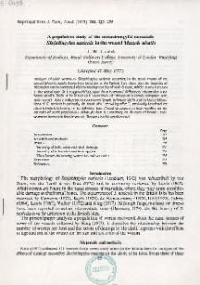 A population study of the metastrongylid nematode Skrjabingylus nasicola in the weasel Mustela nivalis