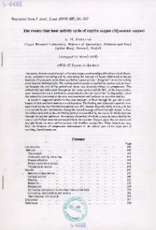 The twenty-four hour activity cycle of captive coypus (Myocastor coypus)