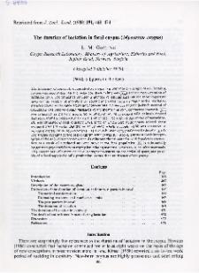 The duration of lactation in feral coypus (Myocastor coypus)