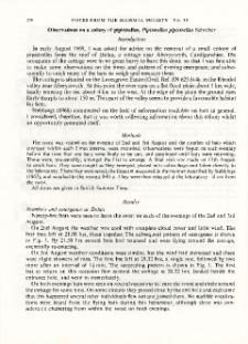 Observations on a colony of pipistrelles, Pipistrellus pipistrellus Schreber