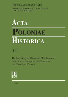 Acta Poloniae Historica. T. 111 (2015), Short notes