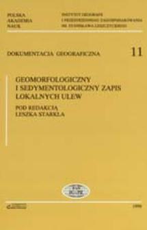 Geomorfologiczny i sedymentologiczny zapis lokalnych ulew