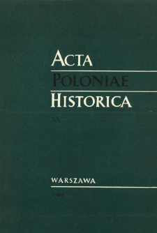 Acta Poloniae Historica T. 20 (1969), Title pages, Contents
