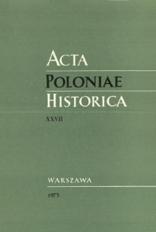 Acta Poloniae Historica. T. 27 (1973), Title pages, Contents