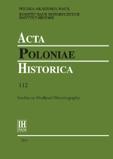 Acta Poloniae Historica. T. 112 (2015), Chronicle