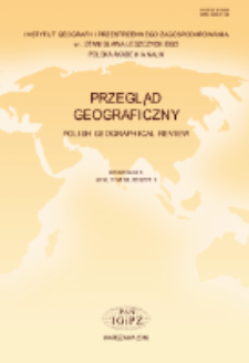 Przegląd Geograficzny T. 88 z. 1 (2016), Spis treści