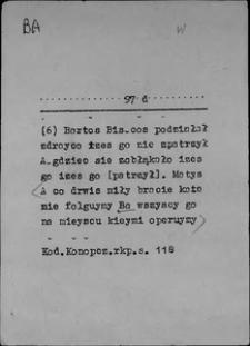 Kartoteka Słownika języka polskiego XVII i 1. połowy XVIII wieku; B - Bać się