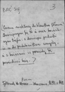 Kartoteka Słownika języka polskiego XVII i 1. połowy XVIII wieku; Bać się - Bankierz