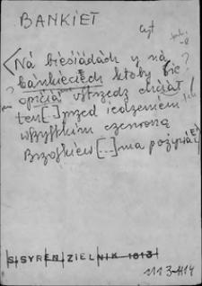Kartoteka Słownika języka polskiego XVII i 1. połowy XVIII wieku; Bankiet - Barysznik