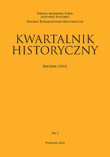 Kwartalnik Historyczny R. 123 nr 2 (2016), Recenzje