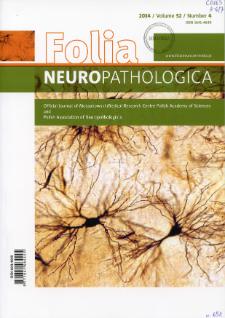 Folia Neuropathologica : former Neuropatologia Polska Vol.52 (2014) nr 4