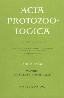 Acta Protozoologica, Vol. XI, Symposium Motile Systems of Cells