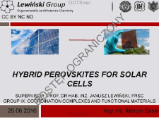 Hybrid perovskites for solar cells