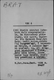 Kartoteka Słownika języka polskiego XVII i 1. połowy XVIII wieku; Brat2 - Bronić się