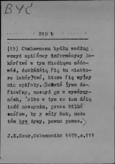 Kartoteka Słownika języka polskiego XVII i 1. połowy XVIII wieku; Być7