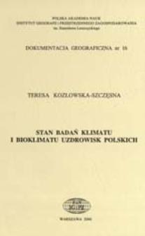 Stan badań klimatu i bioklimatu uzdrowisk polskich