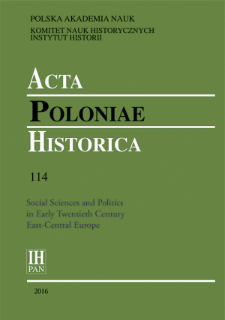 Acta Poloniae Historica T. 114 (2016), Title pages, Contents