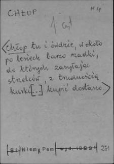 Kartoteka Słownika języka polskiego XVII i 1. połowy XVIII wieku; Chłop - Chmura