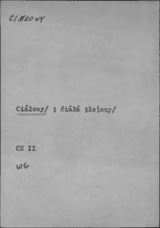 Kartoteka Słownika języka polskiego XVII i 1. połowy XVIII wieku; Ciałowy - Cielesność
