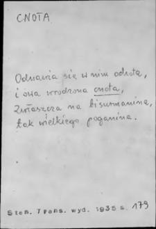 Kartoteka Słownika języka polskiego XVII i 1. połowy XVIII wieku; Cnota-cd - Co1