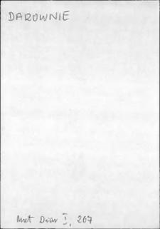Kartoteka Słownika języka polskiego XVII i 1. połowy XVIII wieku; Darowanie - Dawność
