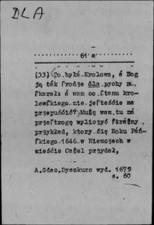 Kartoteka Słownika języka polskiego XVII i 1. połowy XVIII wieku; Dla2 - Dlatego