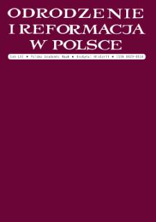Odrodzenie i Reformacja w Polsce T. 61 (2017), Title pages, Contents, Abbreviations etc.