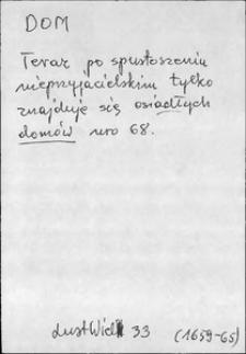 Kartoteka Słownika języka polskiego XVII i 1. połowy XVIII wieku; Dom - Doma