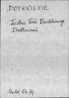 Kartoteka Słownika języka polskiego XVII i 1. połowy XVIII wieku; Dotknienie - Doznawanie