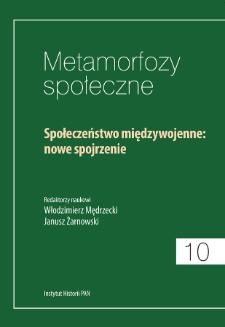 Rola państwa i jego instytucji w przemianach społecznych w Polsce (1918-1939)