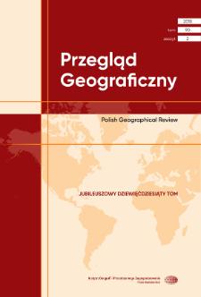 Przegląd Geograficzny T. 90 z. 2 (2018), Spis treści