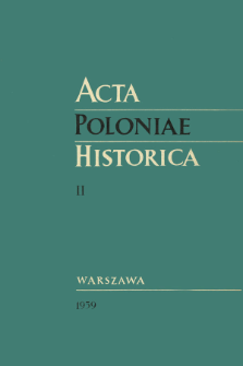 Acta Poloniae Historica T. 2 (1959), Title pages, Contents