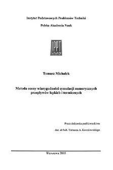 Metoda oceny wiarygodności symulacji numerycznych przepływów lepkich i termicznych