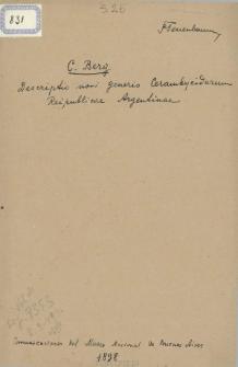 Descriptio novi generis Cerambycidarum Reipublicae Argentinae
