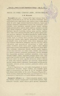 Notes on some cyminae (hem., myodochinae)