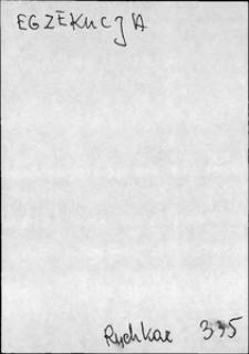 Kartoteka Słownika języka polskiego XVII i 1. połowy XVIII wieku; Egzekucja - Ekspediowanie