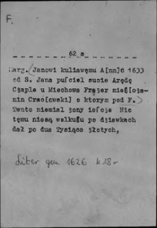 Kartoteka Słownika języka polskiego XVII i 1. połowy XVIII wieku; F - Faruż
