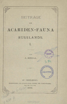 Beiträge zur Acariden-Fauna Russlands. 1. Rhyncholophus (Macropus) plumifer n. sp.
