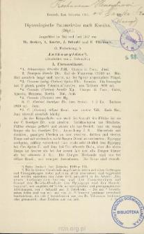 Dipterologische Sammelreise nach Korsika (Dipt.) : Ausgeführt im Mai und Juni 1907