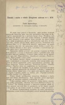 Ślimaki i małże z okolic Strzyżowa zebrane w r. 1876