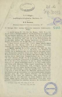 Lepidopterologische Notizen. II.