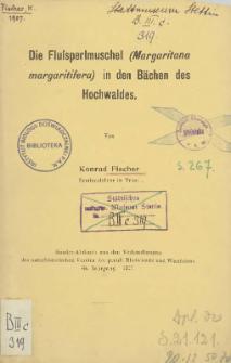 Die Flußperlmuschel (Margaritana margaritifera) in den Bächen des Hochwaldes