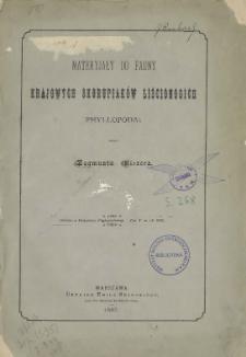 Materyjały do fauny krajowych skorupiaków liścionogich (Phyllopoda)