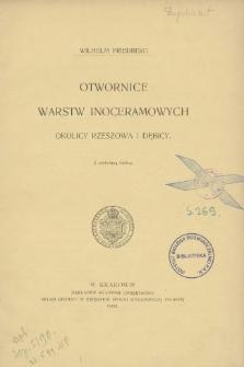 Otwornice warstw inoceramowych okolicy Rzeszowa i Dębicy