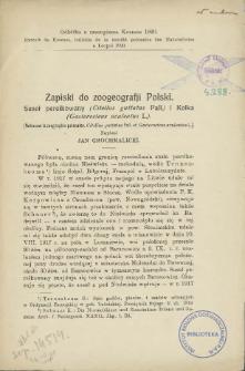 Zapiski do zoogeografji Polski : Suseł perełkowany (Citellus guttatus Pall) i Kolka (Gasterosteus aculeatus L.) = Notes sur la zoographie polonaise. Citellus guttatus Pall, et Gasterosteus aculeatus L.