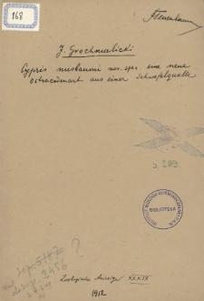 Cypris nusbaumi nov. spec. eine neue Ostracodenart aus einer Schwefelquelle