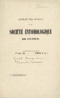 Ravages du Dermestes Lardarius dans les grainages cellulaires opérés suivant la méthode de M. L. Pasteur